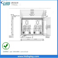 black screen Vertical allignment LCD for elevator