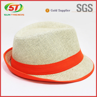 2016 summer decoration flat top foldable straw hat panama straw hat for men