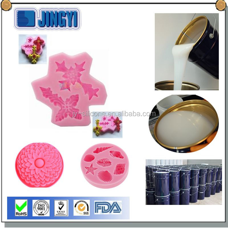 Guangzhou Supplier RTV 2 liquid silicone rubber for plastic injection mould making crystal ball mould
