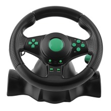180 Degree Rotation Gaming Vibration Racing Steering Wheel With Pedals