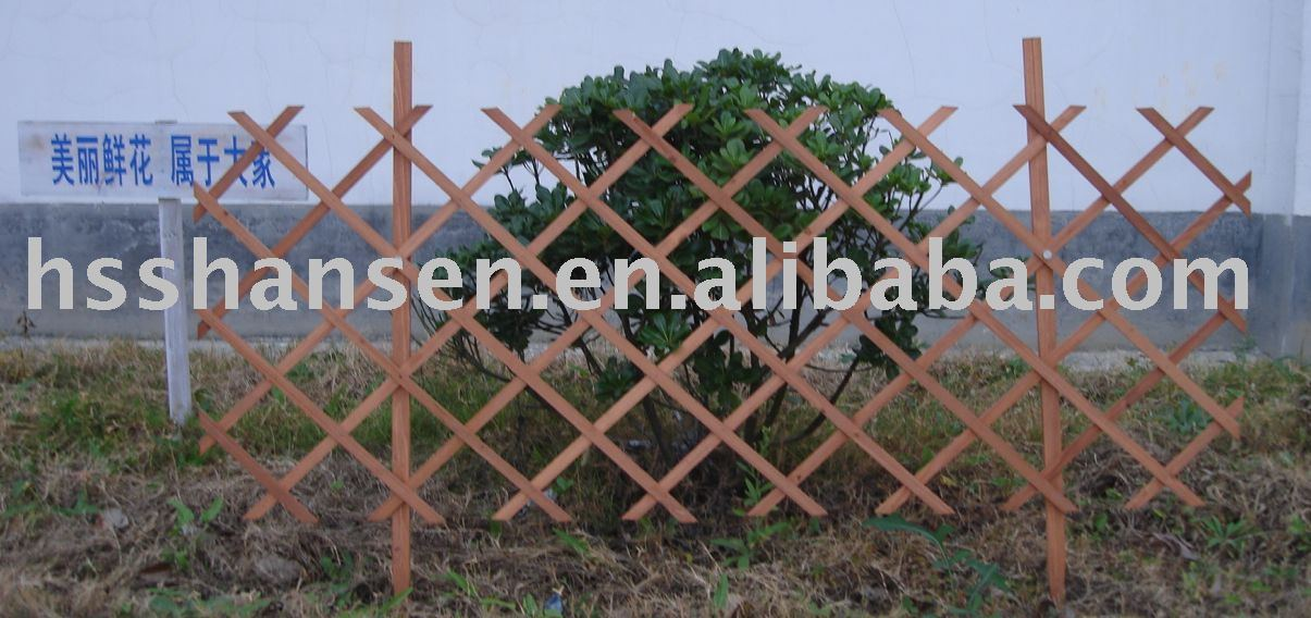 garden wooden flexible fence