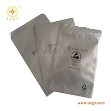 custom printed plastic small antistatic aluminum foil zip lock bag/plain foil bag
