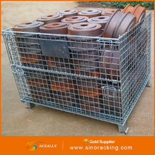 Stackable heavy duty industrial trolley for material handling