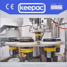 Keepac-Auto plastic paper Cup lid filling and sealing machine