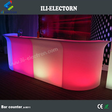 CE /ROHS certificate portable illuminated led straight wine bar counter