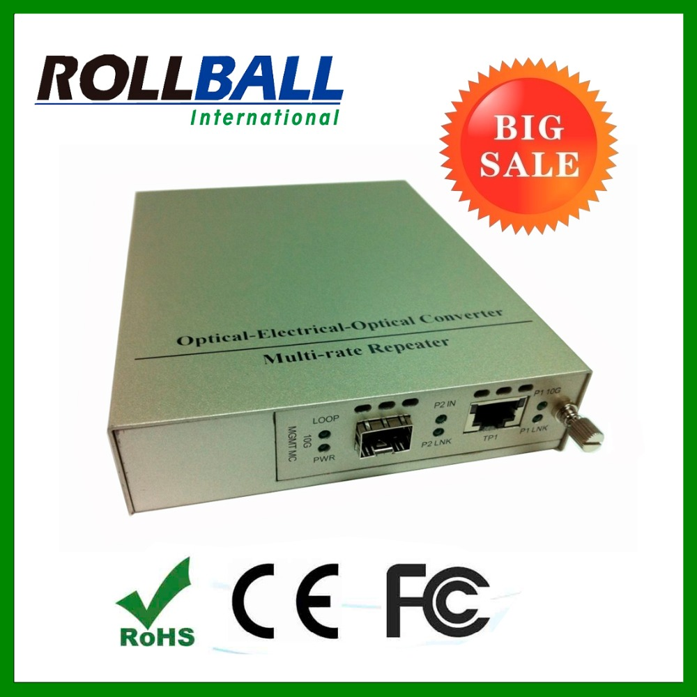 High speed 10g managed media converter with SFP+ module to 80km