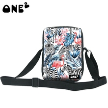 ONE2 zebra Design high quality blank polyester wholesale rectangle minimalist messenger bags