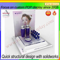 pop acrylic cosmetic counter top display stand