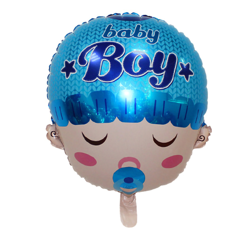 Balloons Baby Shower Baby Head Shape Pink Blue it's a girl /boy First Happy Birthday Balloons Decoration Party Supplies