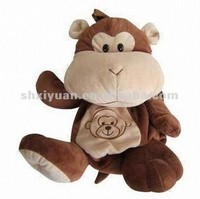 New arrival animal backpack kids bag plush monkey toy bag wholesale