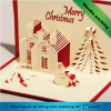 handmade kraft paper birthday christmas cards with custom logo and 3d design