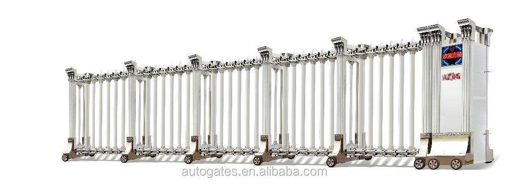 Property Boundary Wall Fence Sliding Collapsible Gate