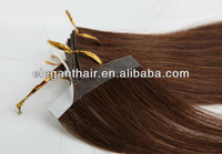 Top Grade hand tied pu skin/tape weft remy hair extensions