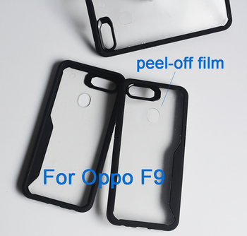 Crystal Clear PC TPU Combined Bumper case cover for Oppo F9