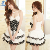 Young Lady Sexy Princess Style Open Big Breast Lenceria Sexy Baby Doll Lingerie
