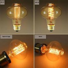 Vintage glass lantern E26 edison style light bulb 40w 110v tungsten filament squirrel cage special Lamp