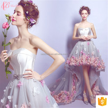 Flower Appliqued Off-Shoulder Long Train Alibaba Vestidos Cocktail Evening Gown Prom Woman Party Dress