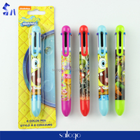 cartoon blaster packing jumbo 6 color ball pen