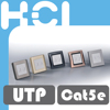 Taiwan Supplier RJ45 Metal Cellular Faceplate with Door