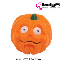funny creative halloween decoration smile face pu plastic pumpkin toy