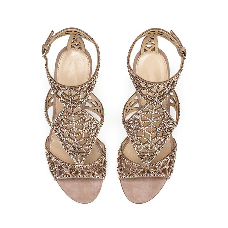 luxury with diamond high heel lady sandal party dinner shoes dongguan manufacturer