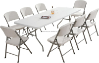 plastic folding tables and chairs for events , outdoor portable fold in half table