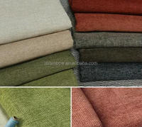 Wholesale high-grade chenille linen cloth contracted Japanese wood sofa leisure sofa chair cloth
