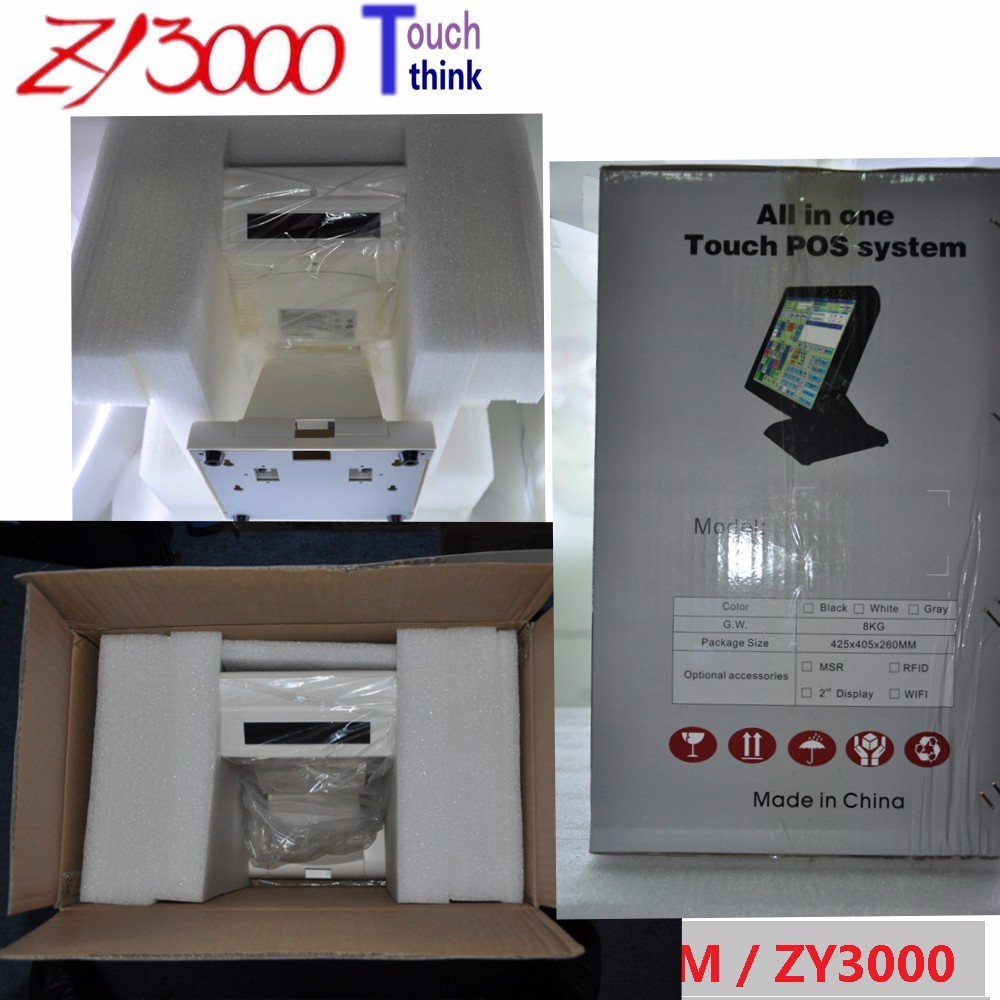 stock 15 inch pos All In One POS Machine, Touch Screen POS Terminal with MSR Card reader