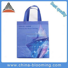 Durable Fashion Ultrasonic Tote Bag Eco-Friendly Promotional Recycled Non Woven Shopping Bag