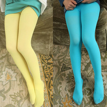 Wholesale high quality candy colors bulk children girls soft tights pantyhose socks