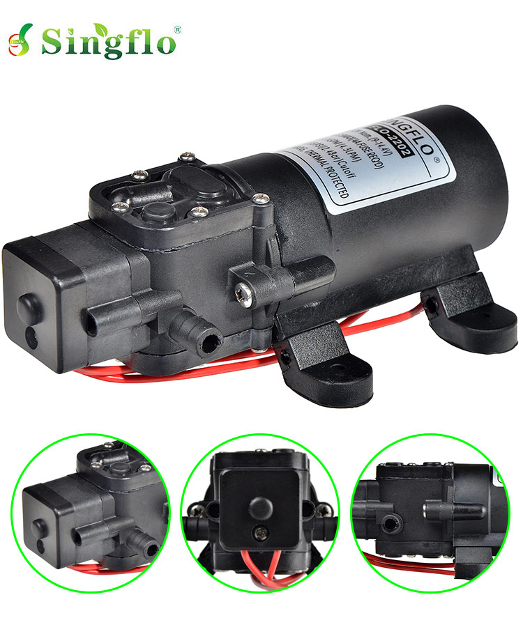 Singflo 12v 24v 2lpm 55psi 1.8A self priming water pumps for agriculture and irrigation