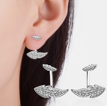 China Wholesale Fashion Women Silver Earrings Jewelry , New 925 Silver CZ rhinestone silver earring