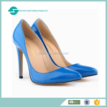 2017 Various colors women high heel shoes fashion ladies patent leather shoes