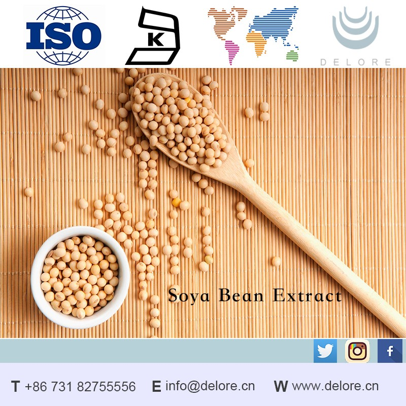 Factory Supply Natural Soybean Extract 98% Daidzein Powder