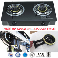 TOP SALE Glass top gas stove/2 Burner induction cooker RD-GD002-14