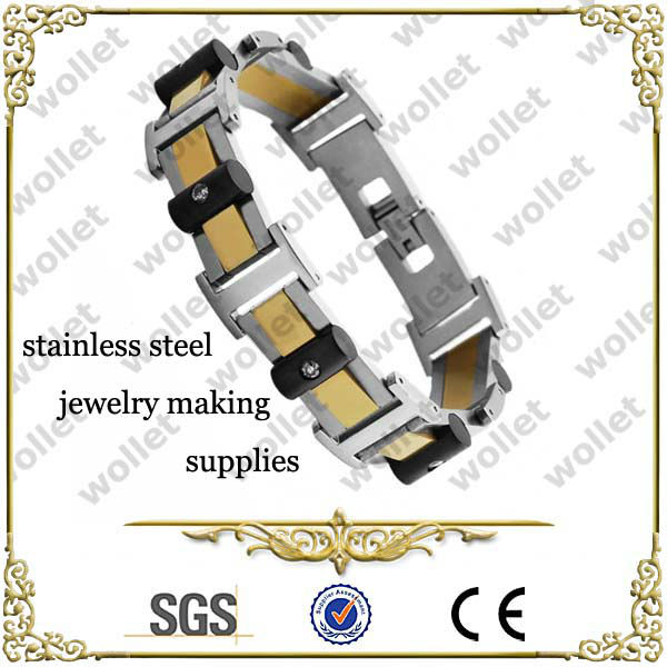 Two Tone Stainless Steel Jewelry Making Supplies