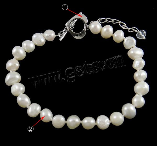 6mm 7-8mm Different Styles For Choice Freshwater Pearl Bracelet