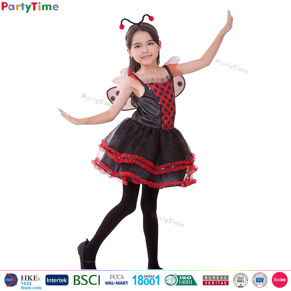 Party Time Brand new arrival kids halloween fancy dress darling ladybug costume insect party costumes