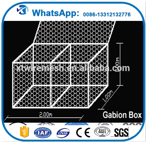 dams scour protection retaining wall wire mesh woven mesh gabion