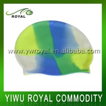 Novelty College Colorful Silicone Adult Funny Swim Cap