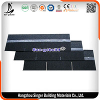Low Cost Plain Layer Shingles / Architecture Bitumen Roof Tile