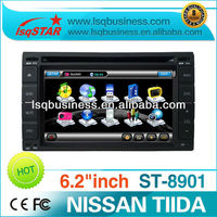 TIIDA car multimedia player with GPS, RDS,TV,bluetooth,DVD/MP3/MP4,radio(FM/AM),support IPOD/USB,SD card+factory