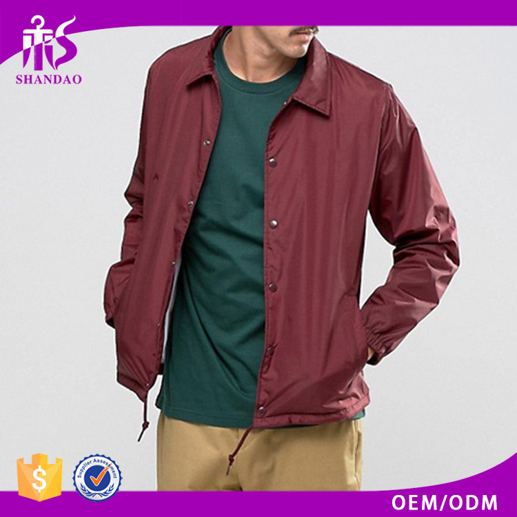 Guangzhou Shandao Fashion Hot Design Wholesale Plain Red 100% Polyester Rain Coat barber jacket