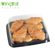 disposable wholesale plastic deli food trays bread containers