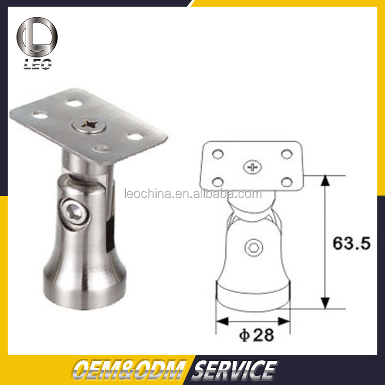 ASTM Stainless Steel Handrail Support Adjustable Mounting Bracket
