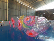 inflatable rolling games inflatable wheel Water Barrel