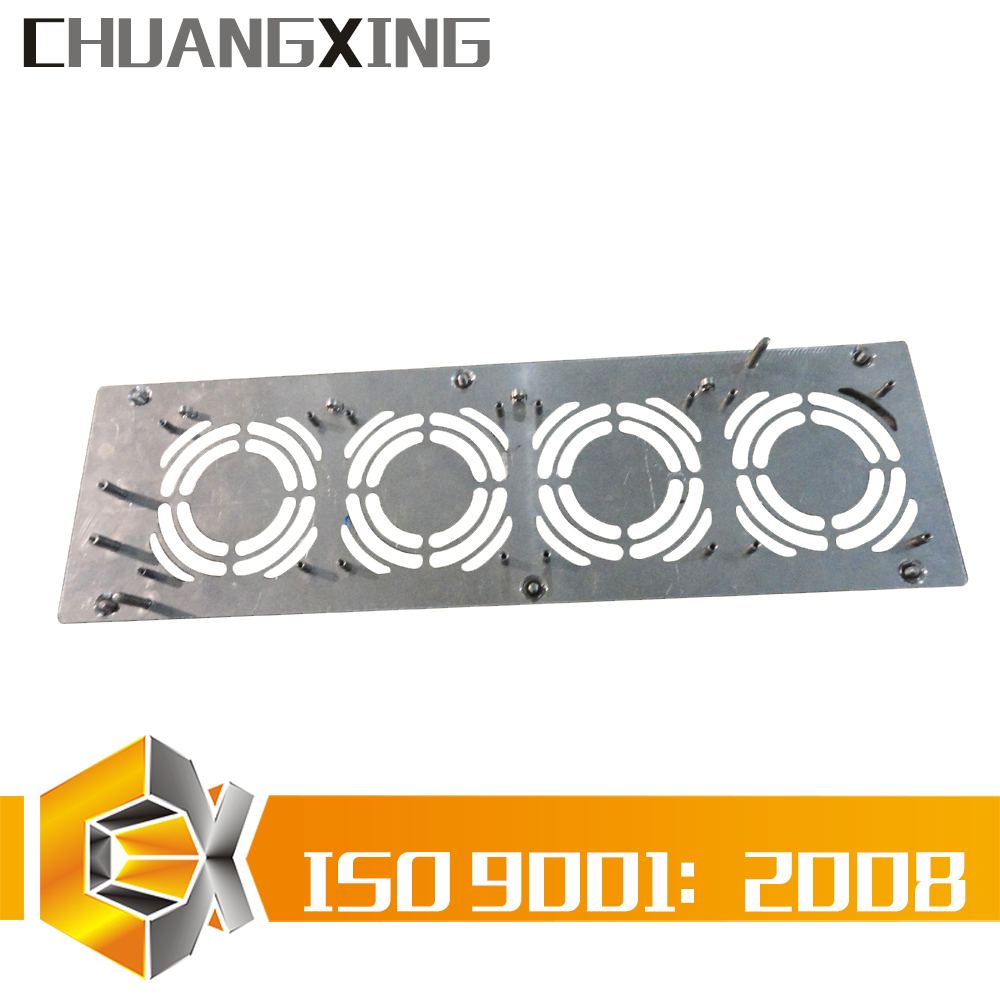 bespoke custom sheet steel metal metalworking job cooling fans trays processing laser cutting punching finishing fabrication