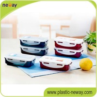 PP Plastic bento lunch box Microwave food container