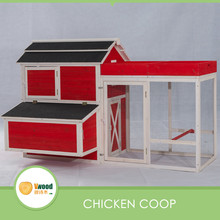 Backyard large wooden chicken coop and run