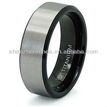 New Products 2013 Jewelry Fashion Brushed and Polished Two-Tone Men's Spikes Titanium Ring